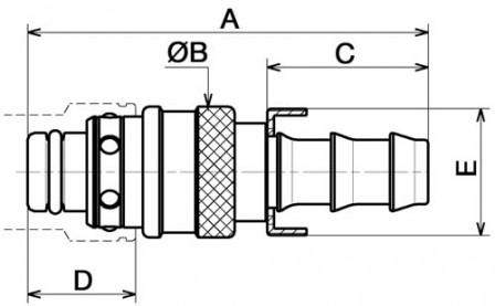 fiche droite pour tuyau auto serreur